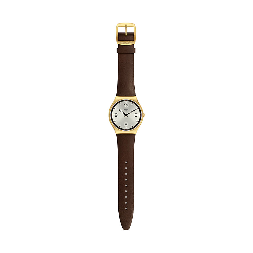 Swatch Unisexuhr Skin Suit Coffee SS07G100