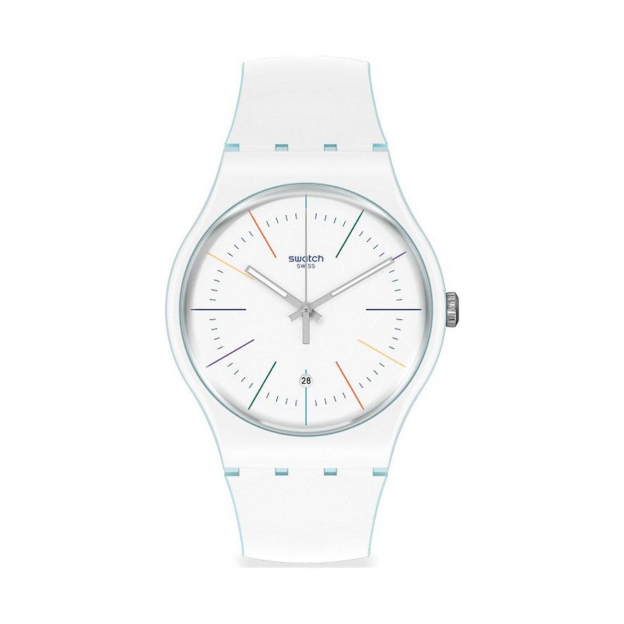 Swatch Unisexuhr White Layered SUOS404