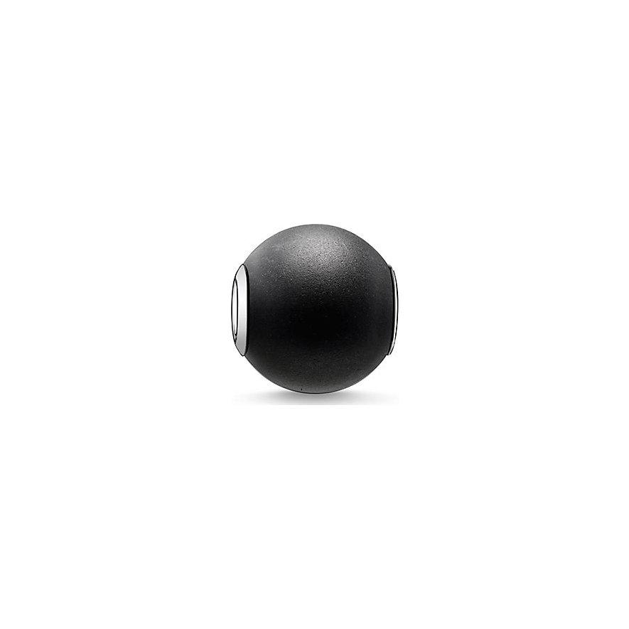 Thomas Sabo Karma Bead K0001-023-11 Obsidian schwarz