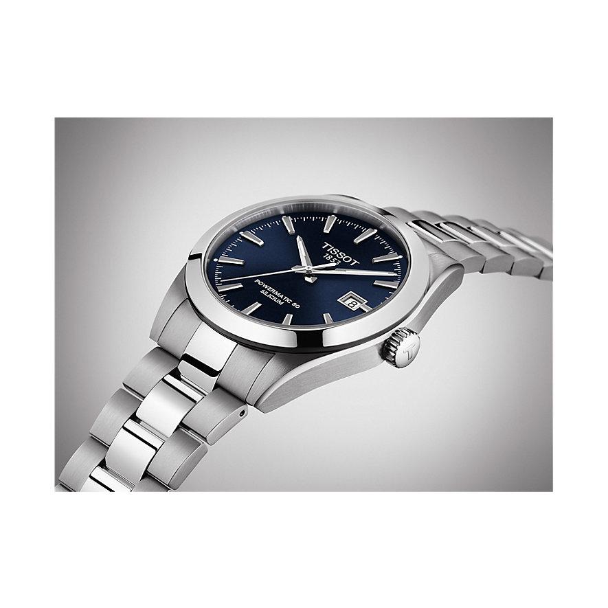Tissot Herrenuhr Gentleman Powermatic 80 Silicium T1274071104100