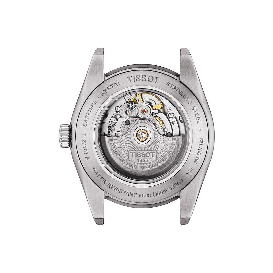 Tissot Herrenuhr Gentleman Powermatic 80 Silicium T1274071105100