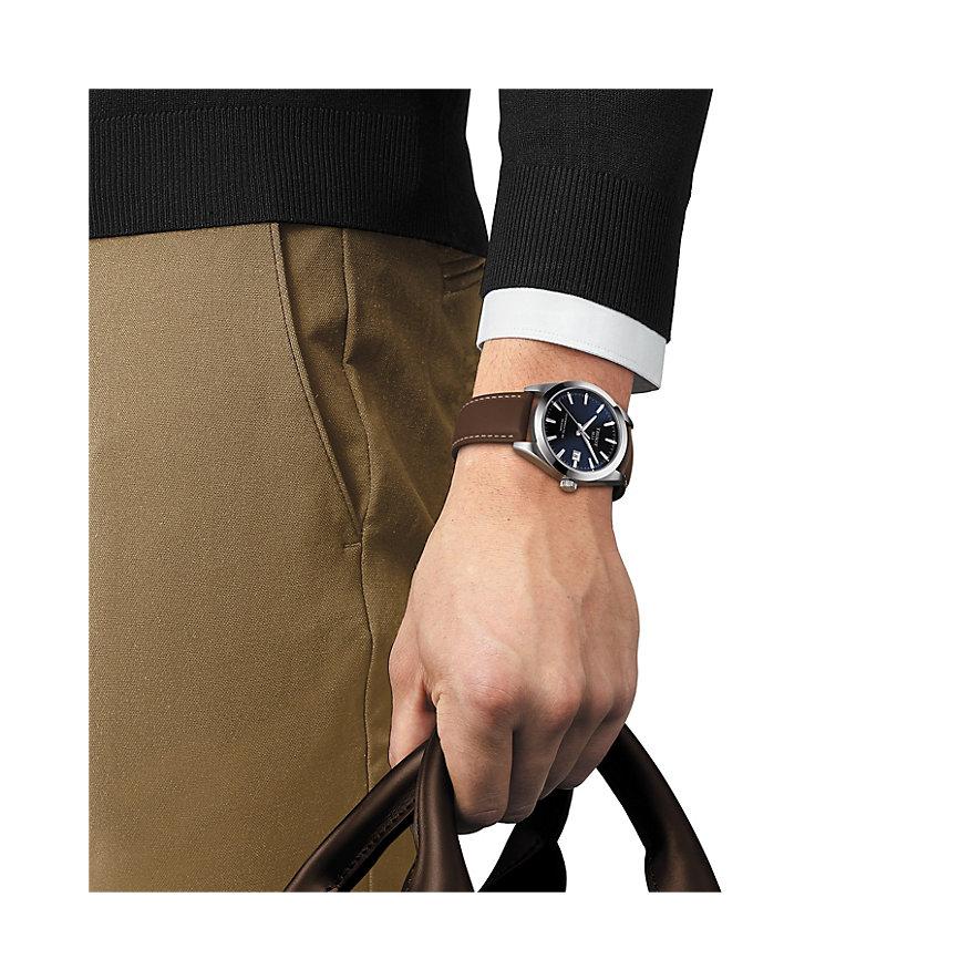 Tissot Herrenuhr Gentleman Powermatic 80 Silicium T1274071604100