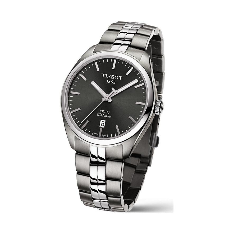 Tissot Herrenuhr PR 100 Titanium Quartz T1014104406100