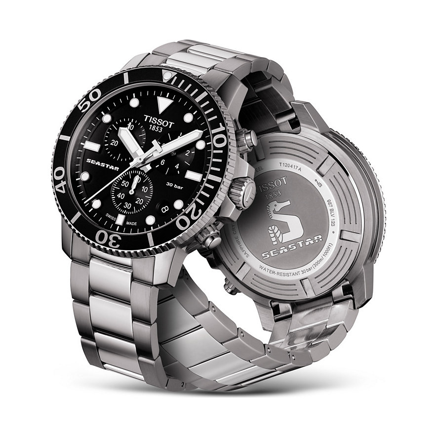 Tissot Herrenuhr Seastar 1000 Chronograph T1204171105100