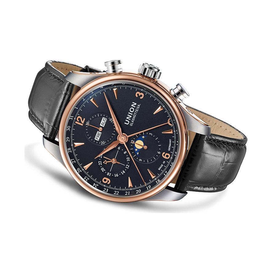 Union Glashütte Chronograph Belisar Chronograph Mondphase Gold D9044254605701