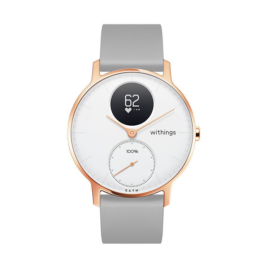 Withings Smartwatch HWA03b-36white-RG -S.Grey-All-