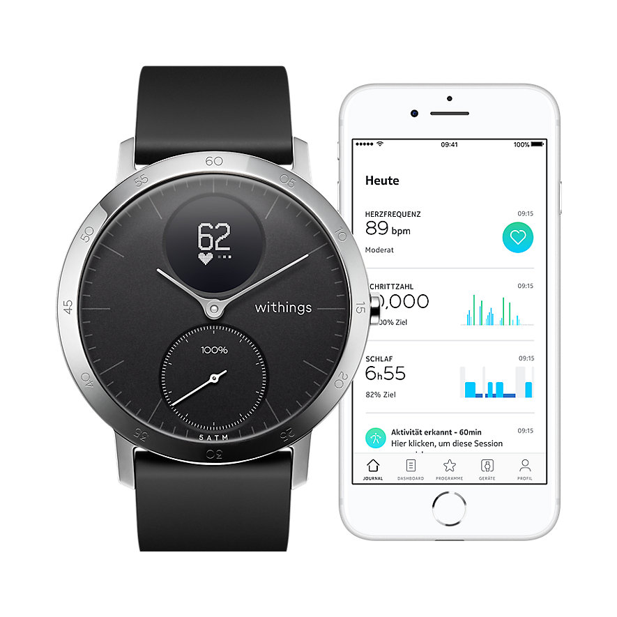 Withings Smartwatch HWA03B-40BLACK-ALL-INTER-W2-