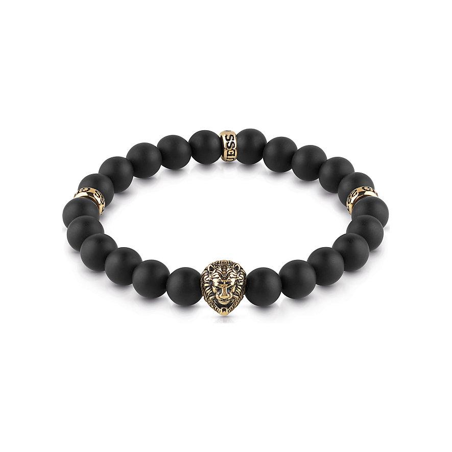 Guess Armband Black Beads&lion Detail