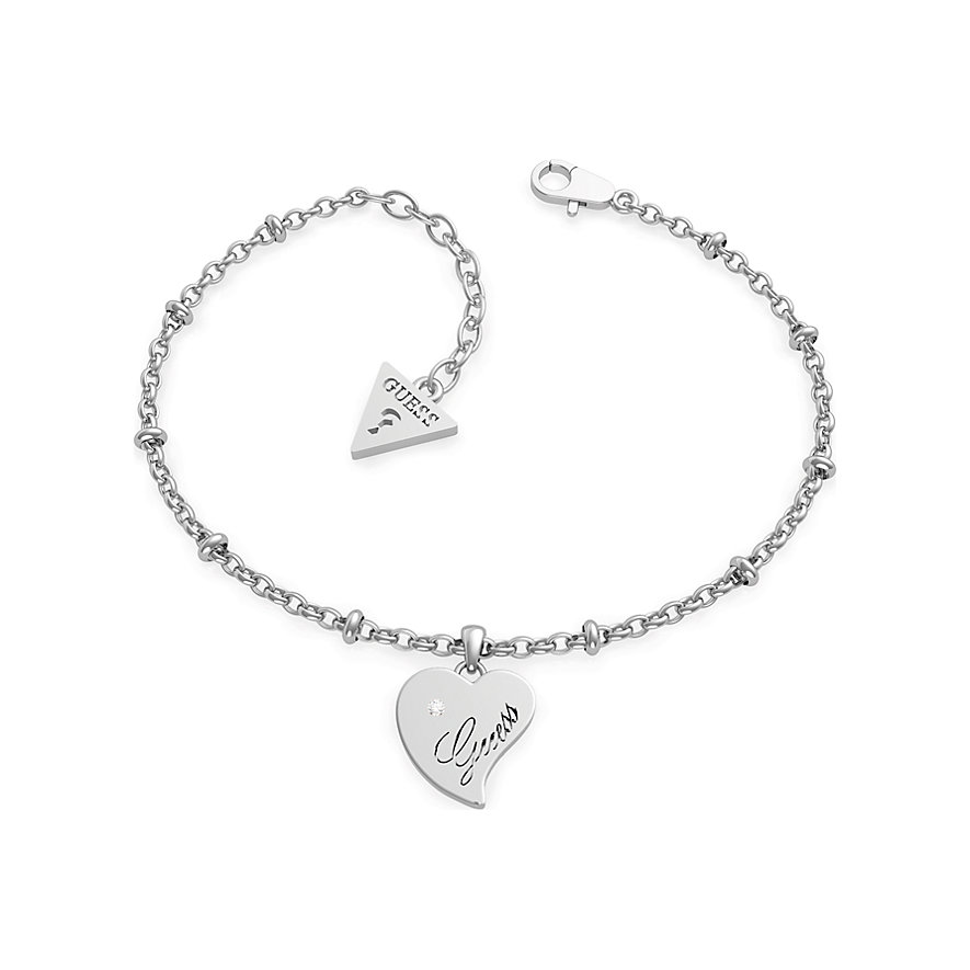 Guess Armband Chain Br Heart Pendant