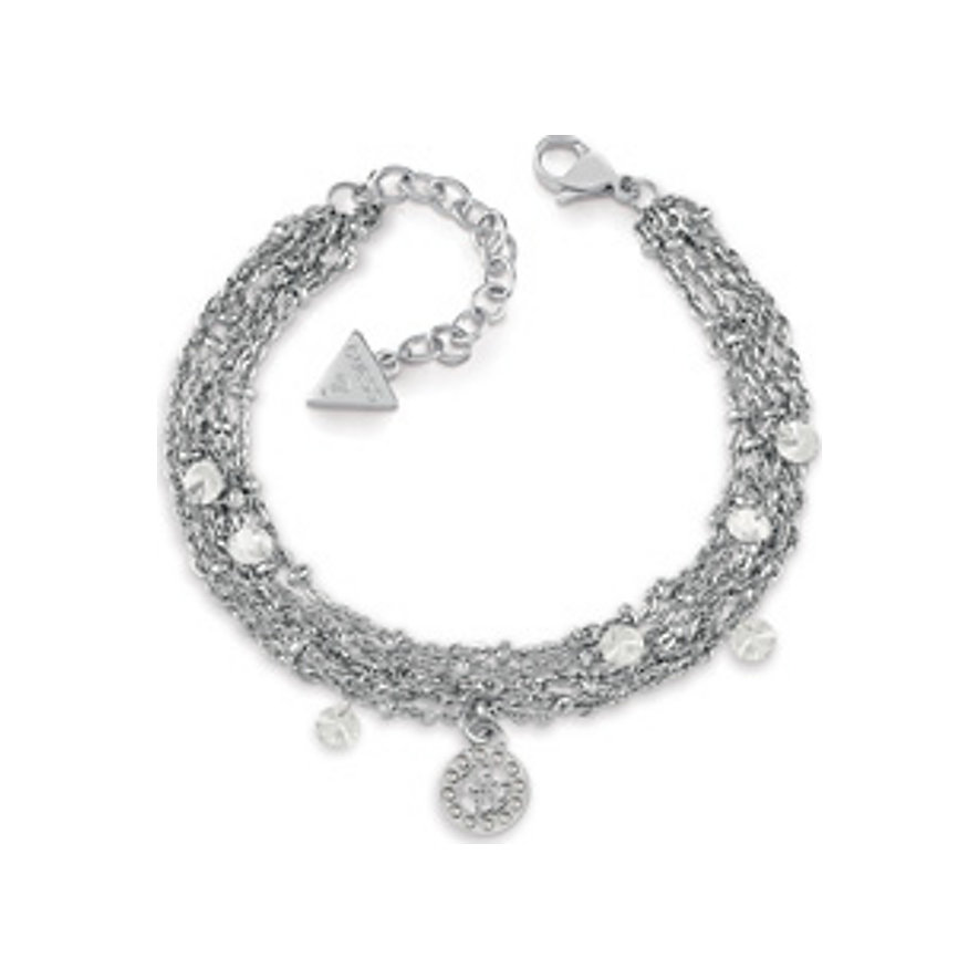 Guess Armband Crystal Mulitchain UBB20099-S