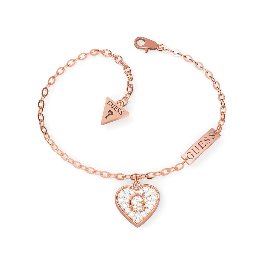 Guess Armband Pave G Heart Crystals