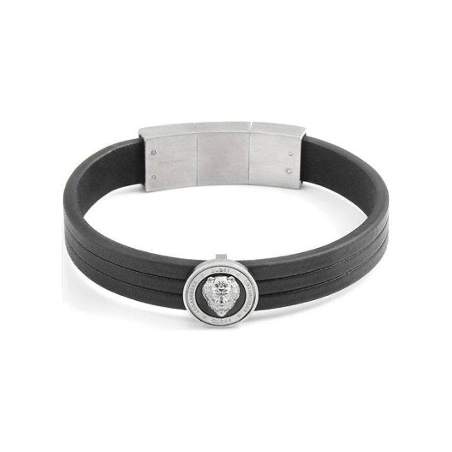 Guess Armband Silver & Black Lion UMB20014