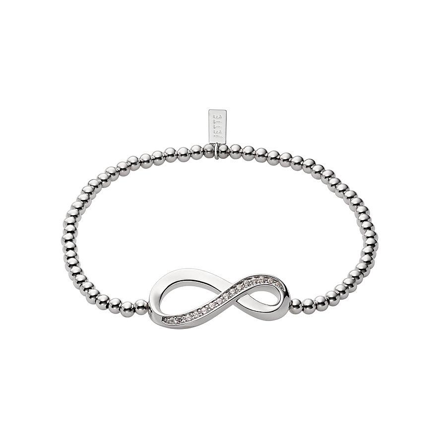 JETTE Silver Armband Endless Love