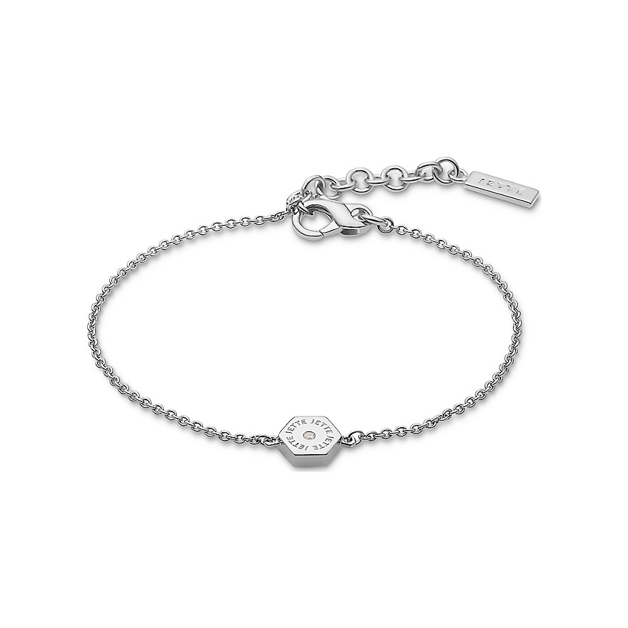 JETTE Silver Armband Hexagon