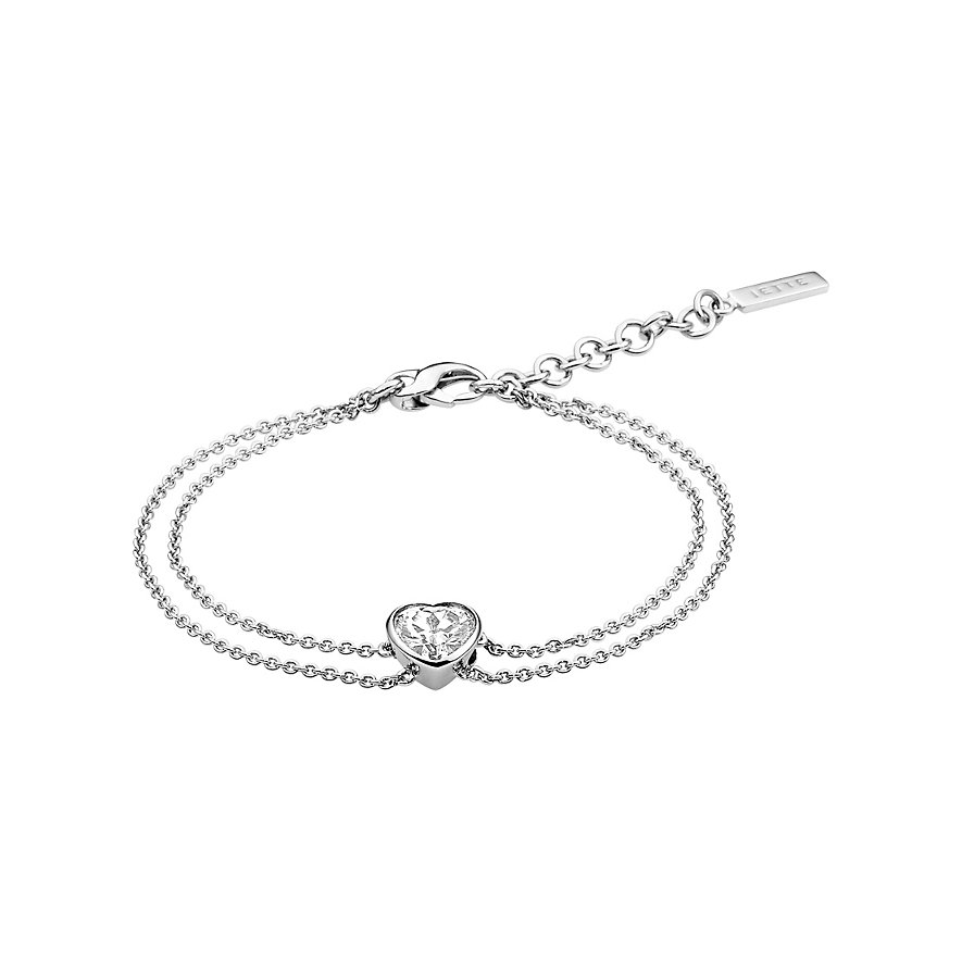 JETTE Silver Armband Solitaire Heart 86938243