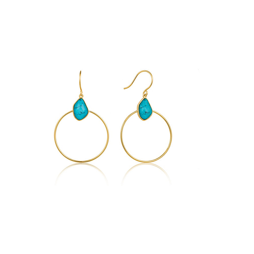 Ania Haie Creole Turquoise Front Hoop E014-02G