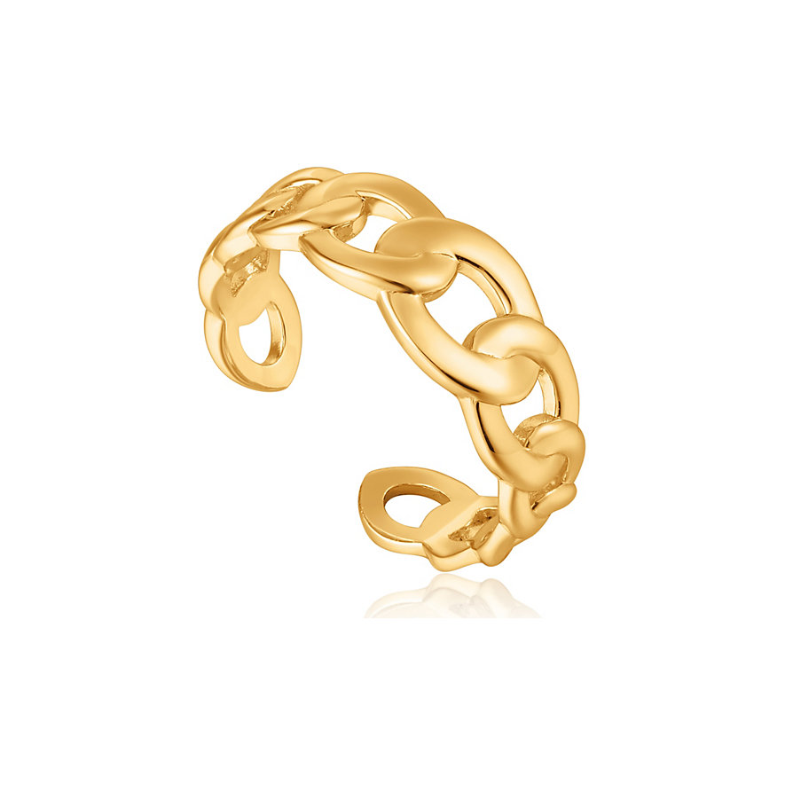 Ania Haie Damenring Curb Chain Adjustable Ring R021-01G