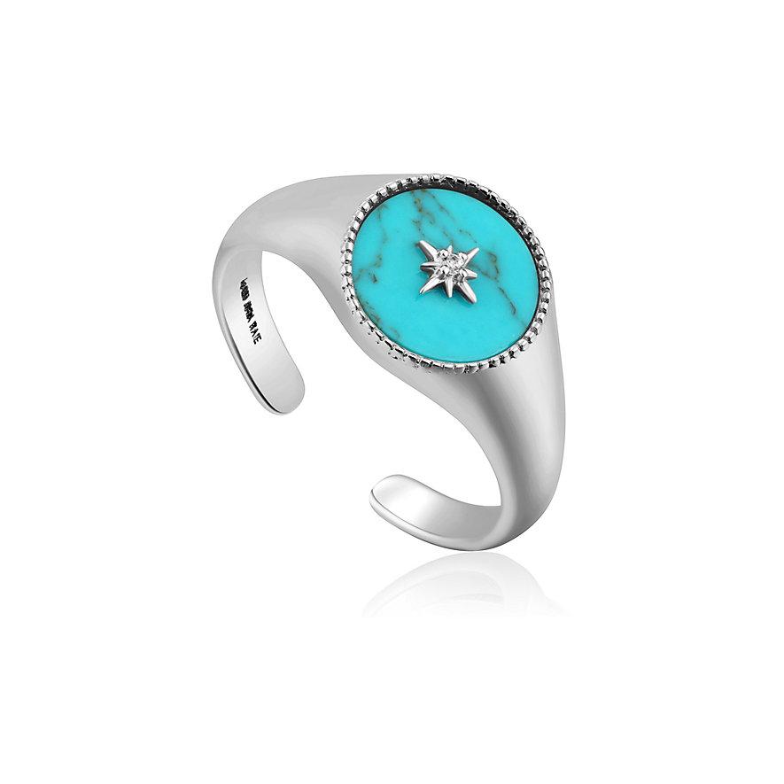 Ania Haie Damenring Turquoise Emblem Signet R022-01H