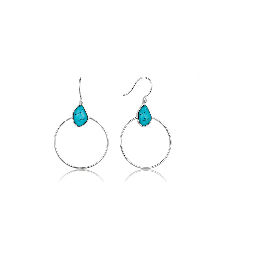 Ania Haie Damenring Turquoise Front Hoop E014-02H