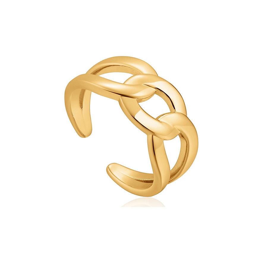 Ania Haie Damenring Wide Curb Chain Adjustable R021-02G