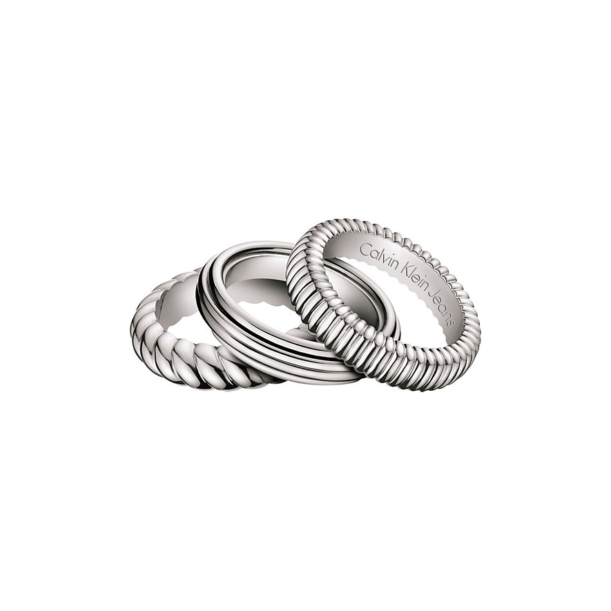 Calvin Klein Wave / 3er Ring-Set