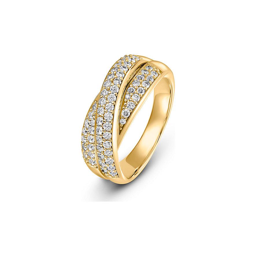 CHRIST Diamonds Damenring Highlightsring