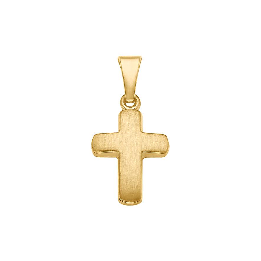 CHRIST Gold Kreuz Anhänger