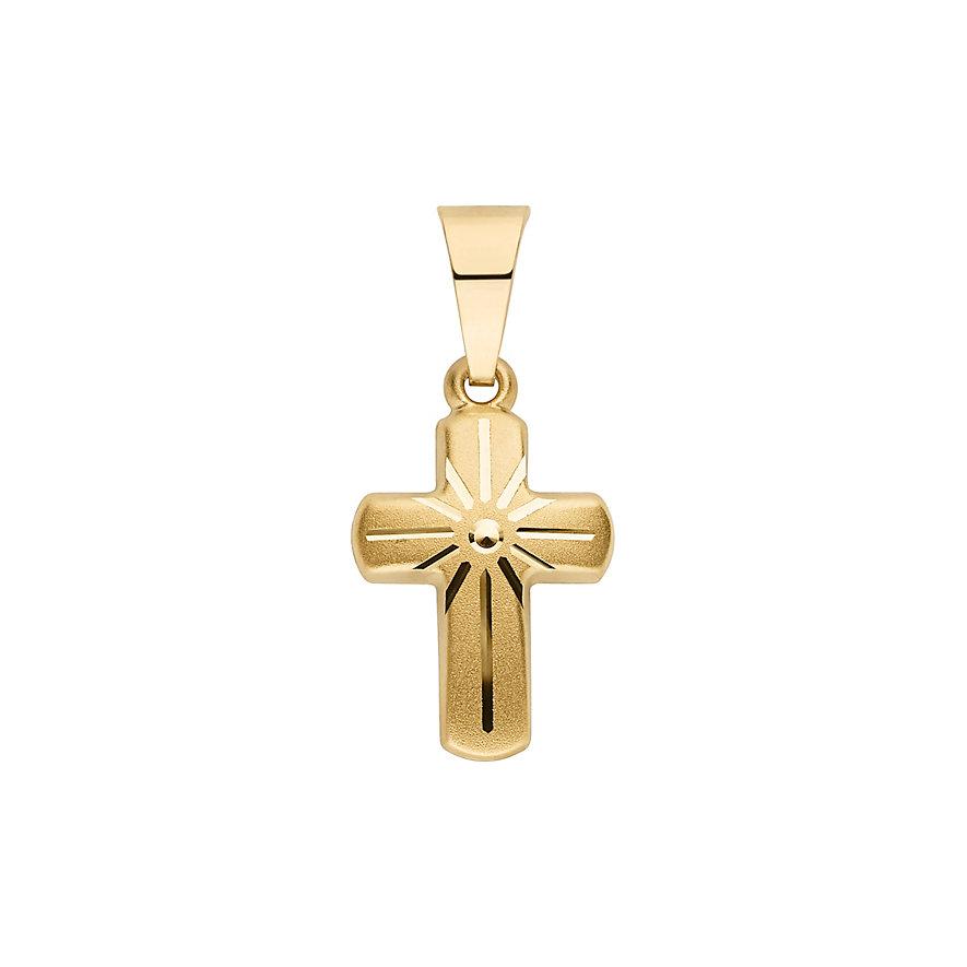 CHRIST Gold Kreuzanhänger 86841789
