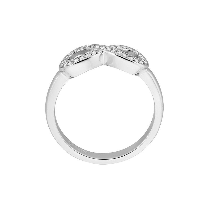 CHRIST Silver Damenring Unendlichkeit 86842599