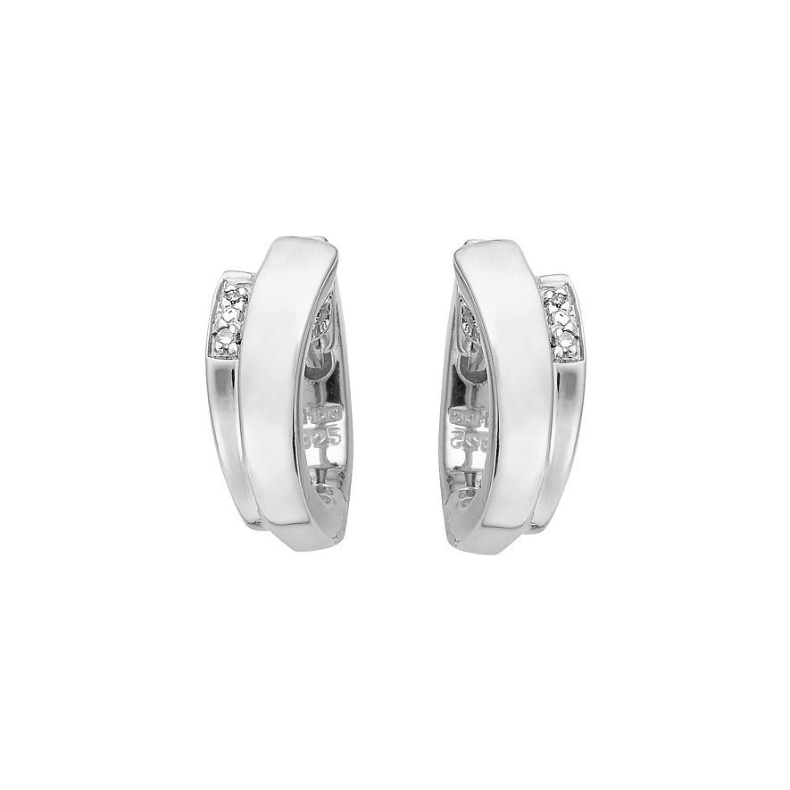 CHRIST Silver Diamonds Creole 85996096