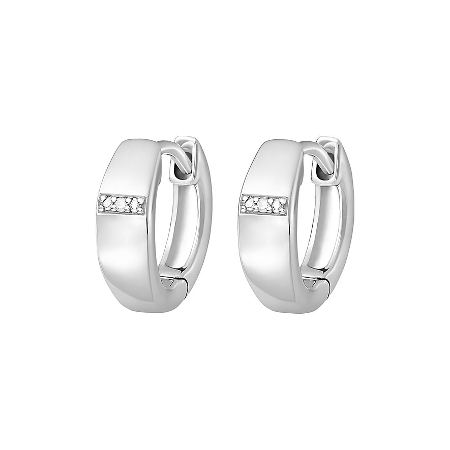CHRIST Silver Diamonds Creole 87471462
