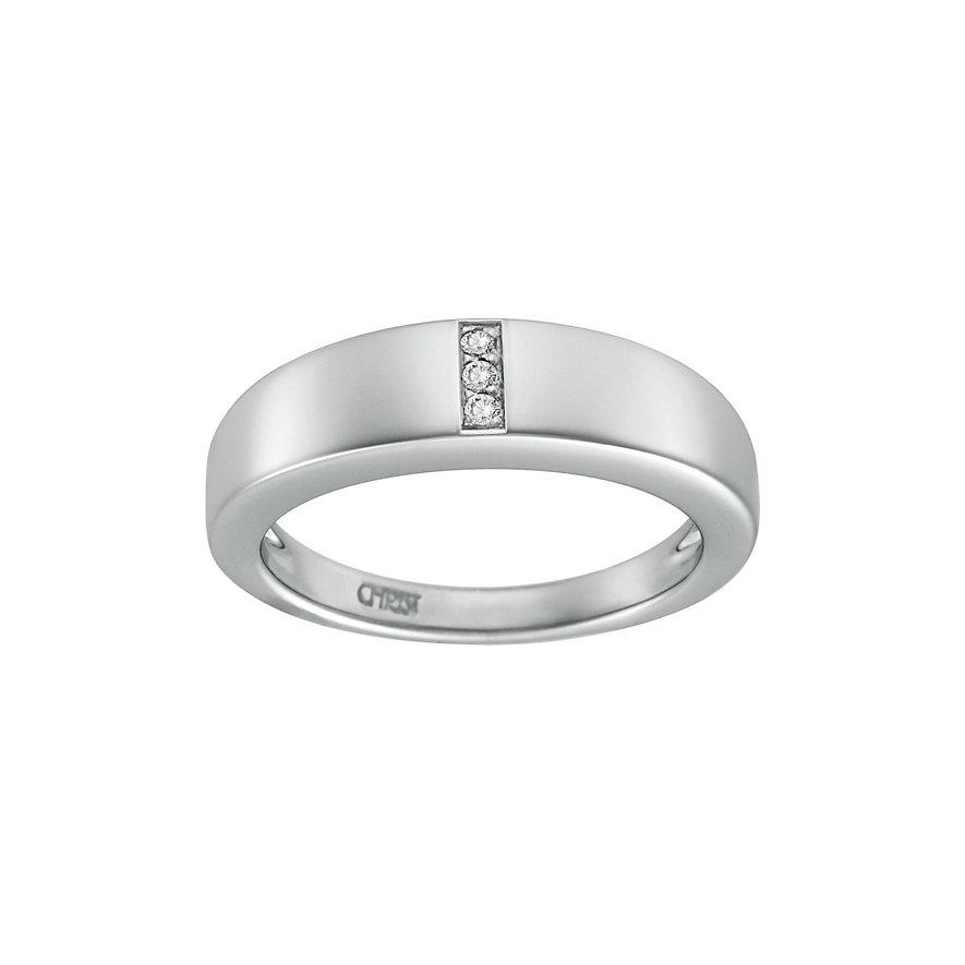 CHRIST Silver Diamonds Damenring 60016348