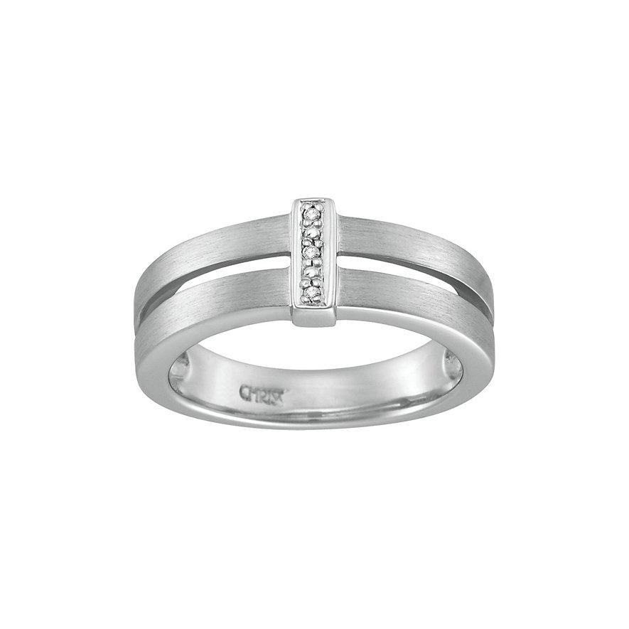 CHRIST Silver Diamonds Damenring 60016356