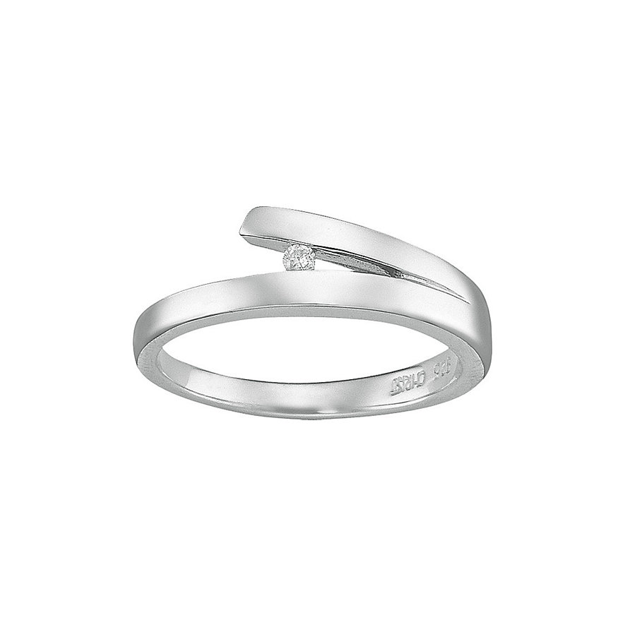 CHRIST Silver Diamonds Damenring 60033781