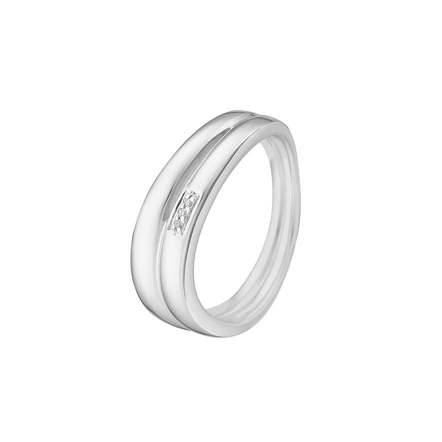 CHRIST Silver Diamonds Damenring 60050139