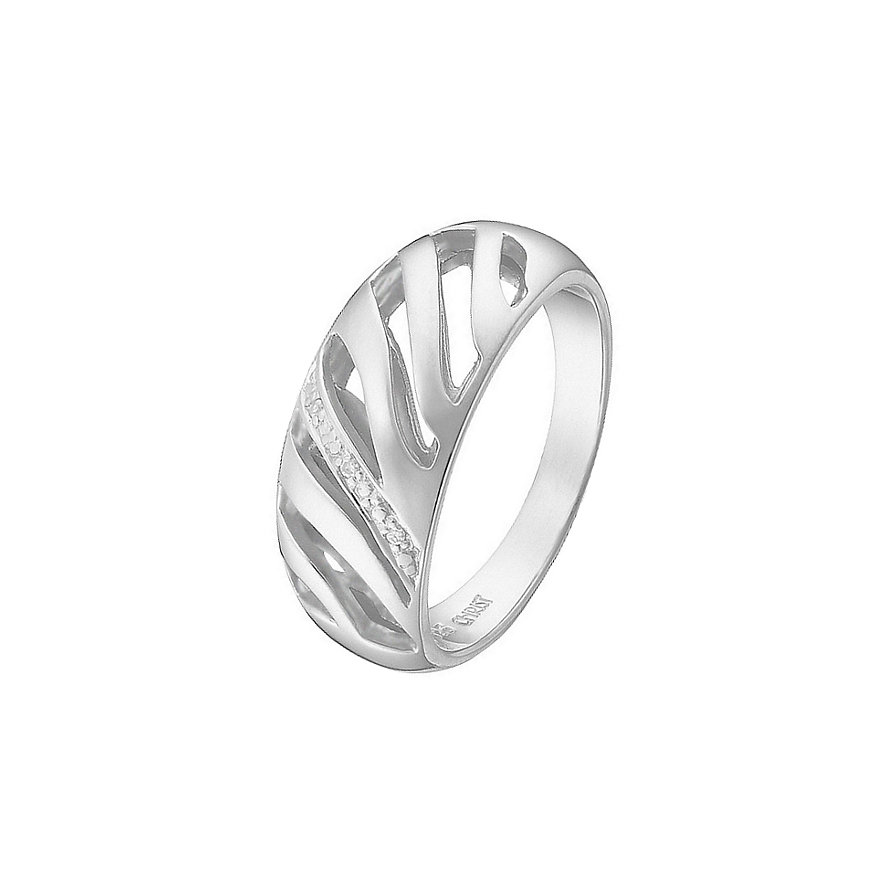 CHRIST Silver Diamonds Damenring 84991309
