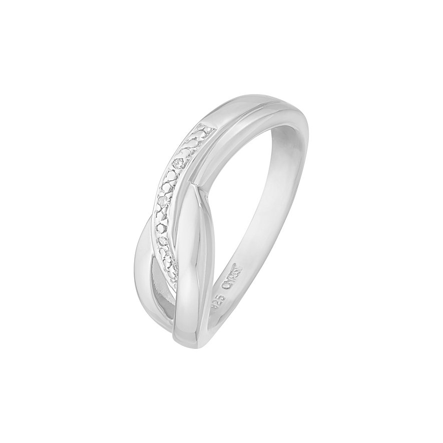 CHRIST Silver Diamonds Damenring 86616653