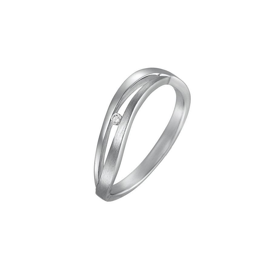 CHRIST Silver Diamonds Damenring 87471675