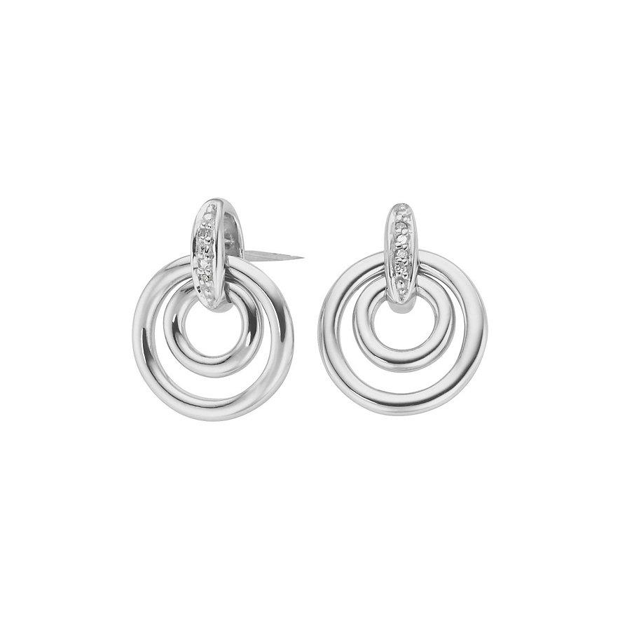 CHRIST Silver Diamonds Ohrstecker 85811789