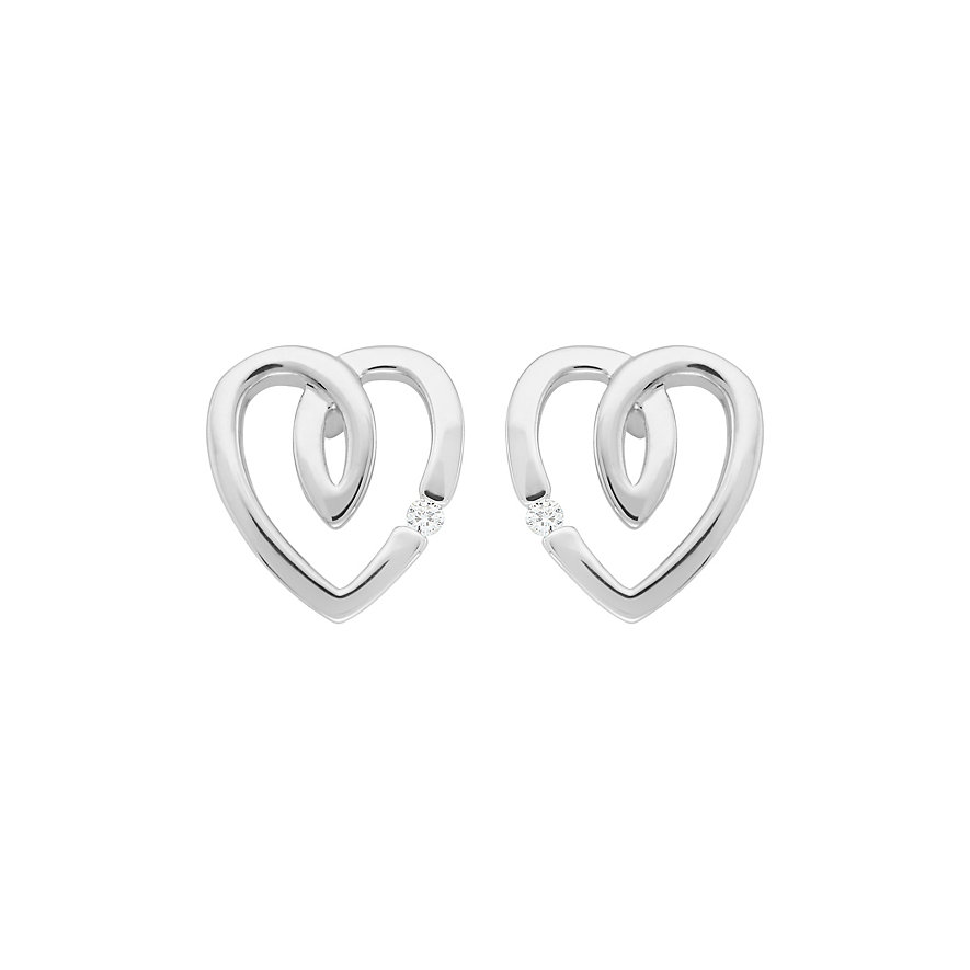 CHRIST Silver Diamonds Ohrstecker 86353849