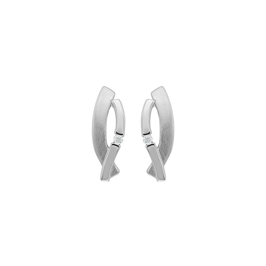 CHRIST Silver Diamonds Ohrstecker 86353865