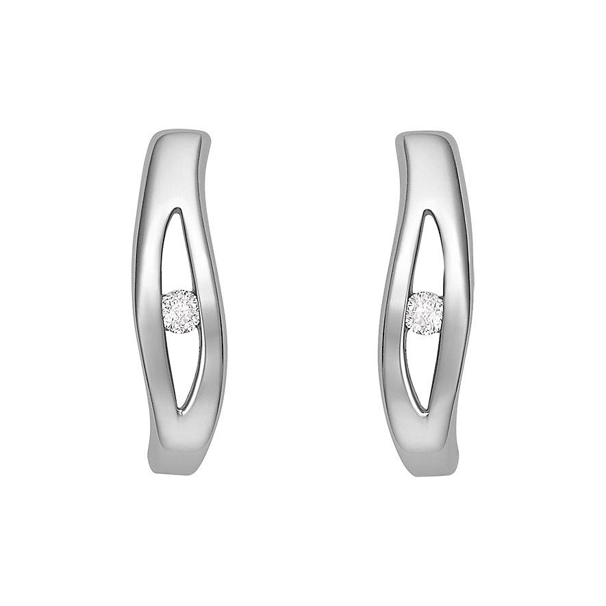 CHRIST Silver Diamonds Ohrstecker 87471454