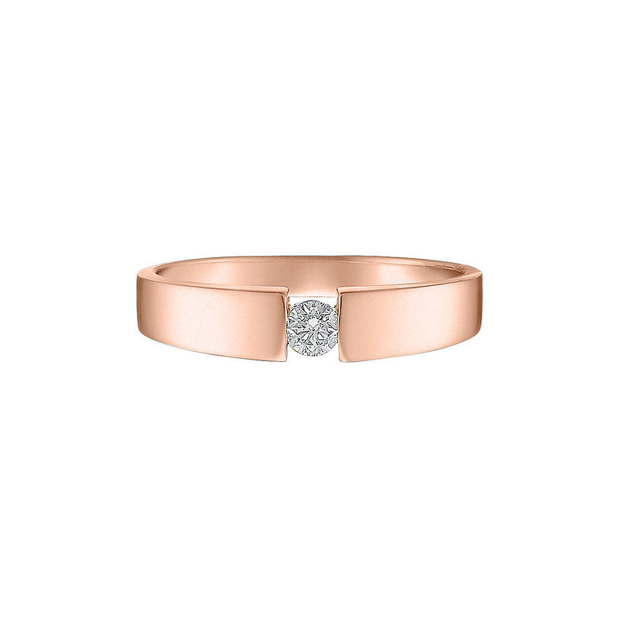 CHRIST Solitaire Damenring Rotgold 60041601