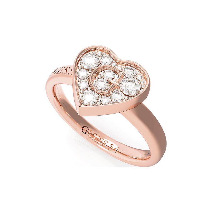 Guess Damenring Pave G Heart Crystals