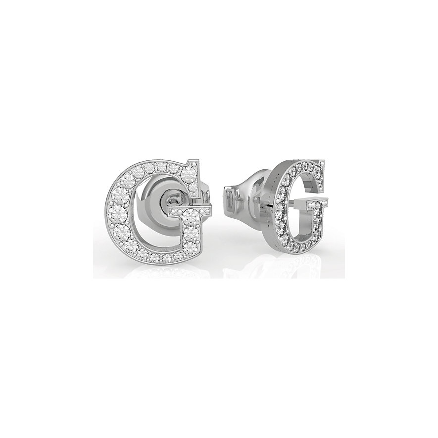 Guess Ohrstecker G Round Pave