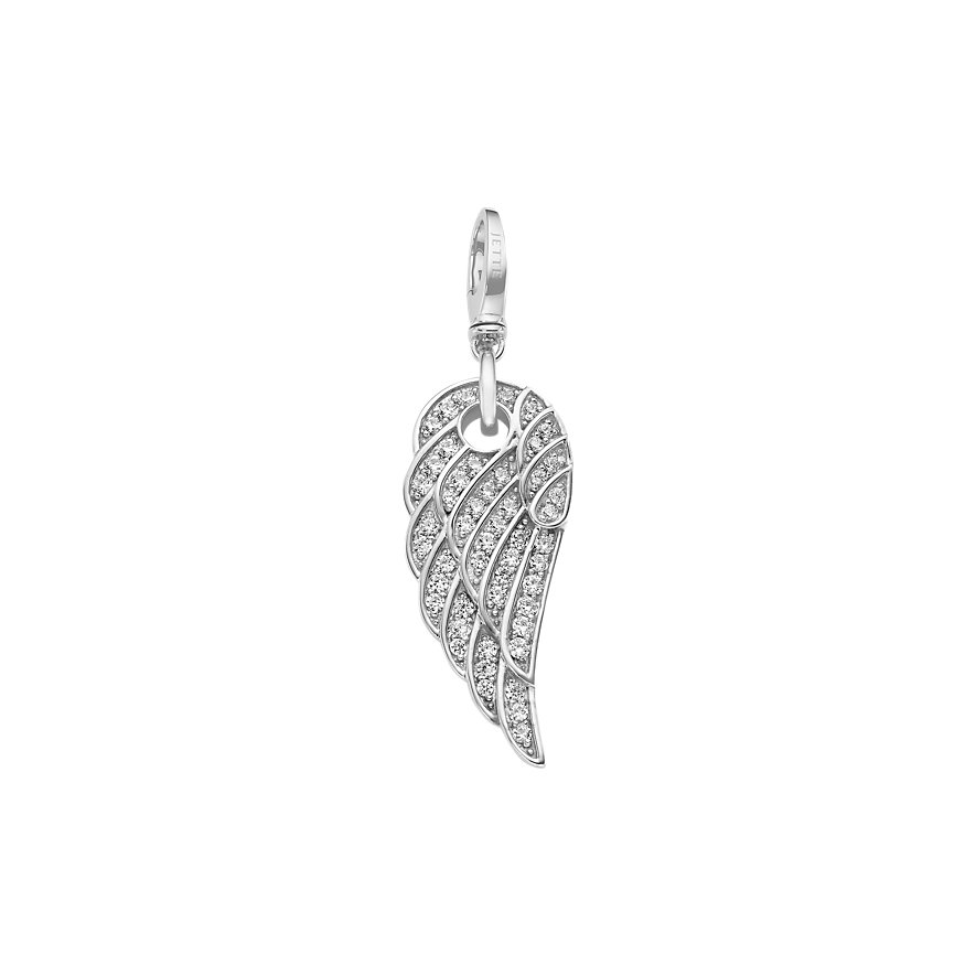 JETTE Charms Angelwing mit Zirkonia
