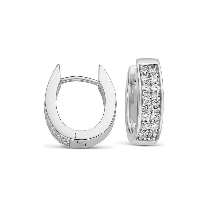 JETTE Silver Creolen 86734877