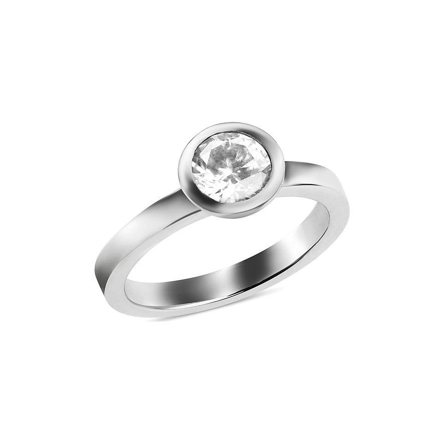 JETTE Silver Damenring Basic 86505355