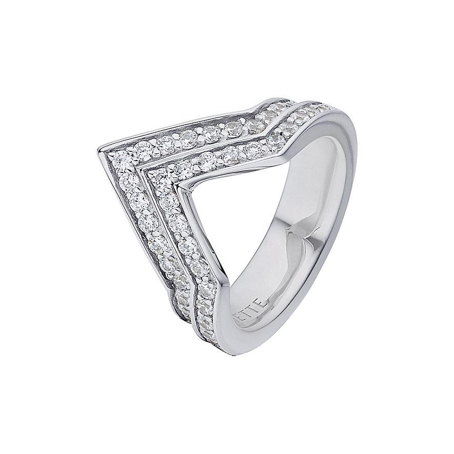 JETTE Silver Damenring Geometric 60082774