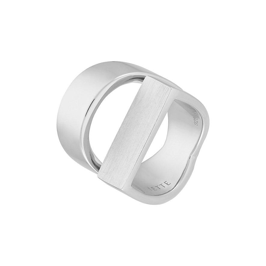 JETTE Silver Damenring Opposites 60079412